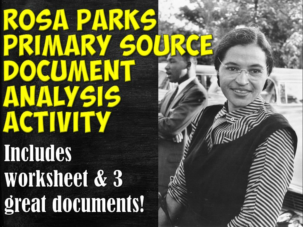 Rosa Parks Primary Source Documents Activity