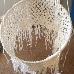 Hang A Round Chair Spandex Bands Diy Hanging Macramé Macrame Chairs Tutorials And