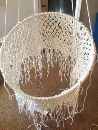 DIY Hanging Macram Chair | Macrame chairs, Tutorials and ...