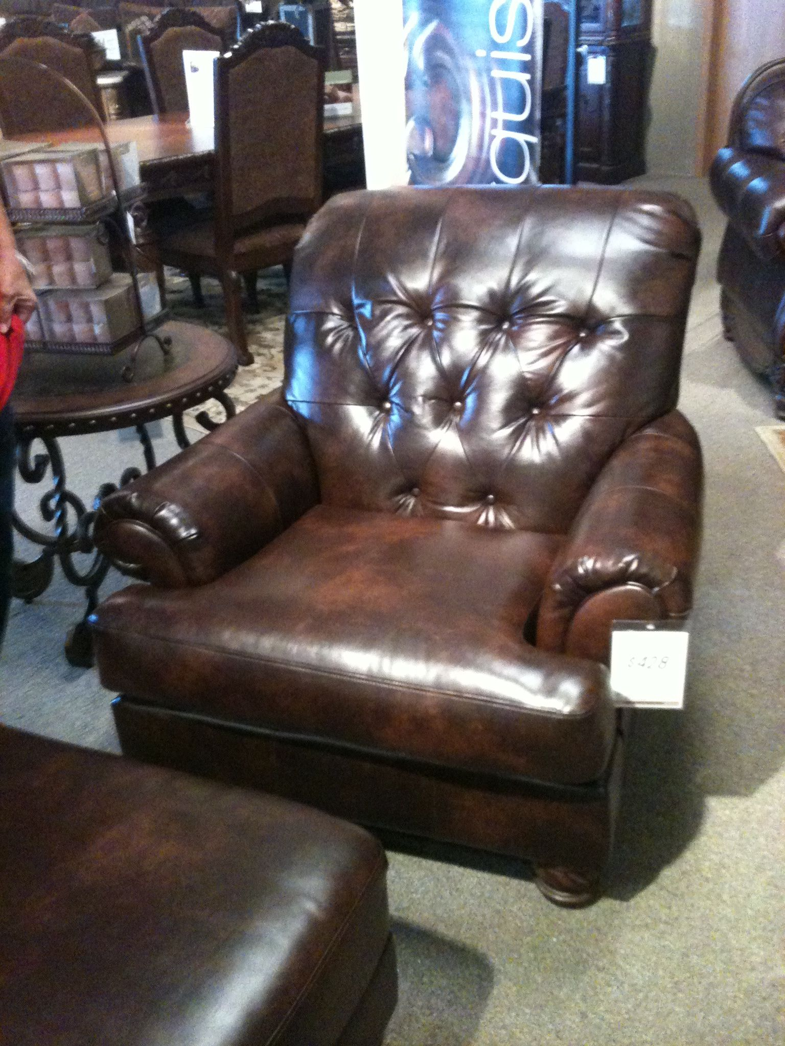 ferguson copeland leather sofa corner beds next day delivery tufted chair ashley furniture home designs