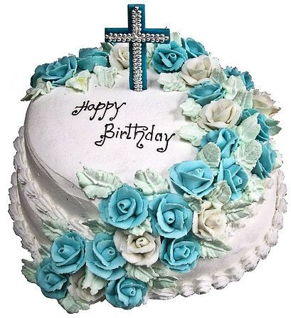 Christian Birthday Cake Birthday Cakes Pinterest
