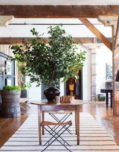 Modern interiors design loft in los angeles rustic wood leather also rh pinterest
