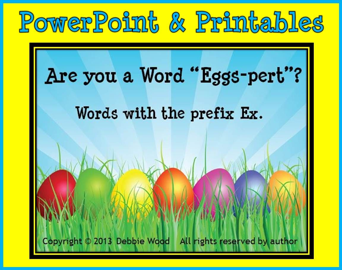 Spring And Easter Fun Are You A Word Eggs Pert