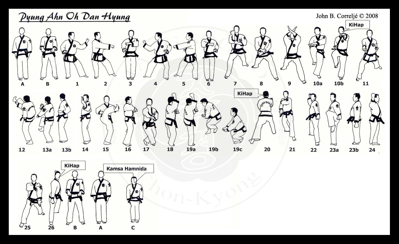 tang soo do forms diagrams 2 way fix b pyung ahn 39s chon kyong martial arts