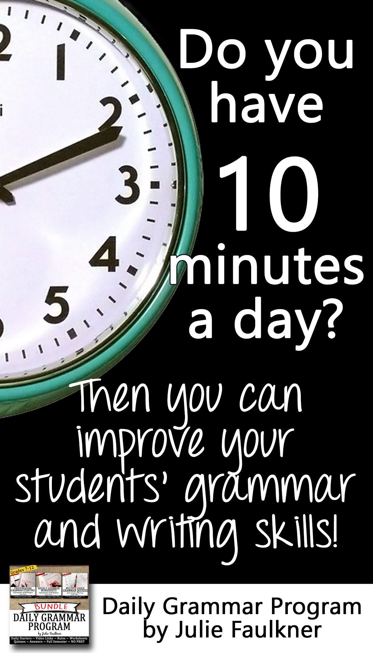 Ten Minute Grammar Daily Act Prep Set 1 Bundle 18 Weeks