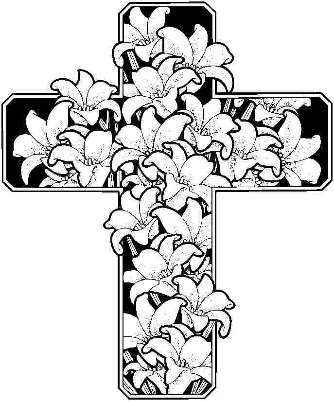 Easter Flowers Coloring Pages Printable Free For