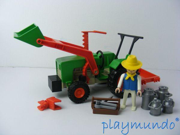 Clasicos Playmobil 3500 Granjero Tractor 1978 - 1994 Http