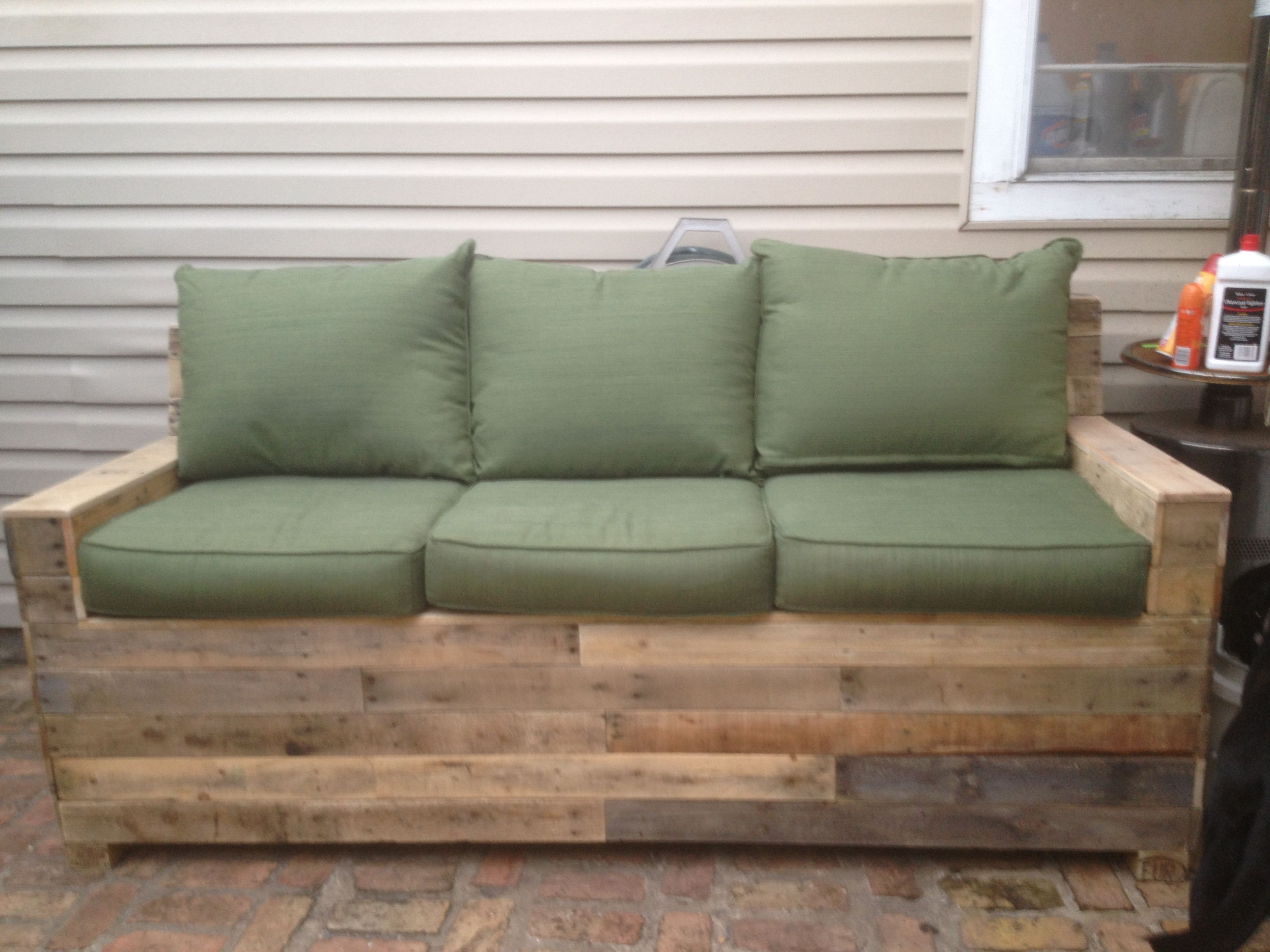 sunbrella sofa cushions grey 3 seater dfs pallet sofa. for sale $600 | reclaimed wood furniture from ...