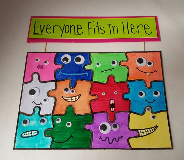 Puzzle Idea Bully Prevention Month - Great