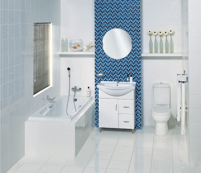Blue Bathroom Łazienka Pinterest Blue And White Blue And