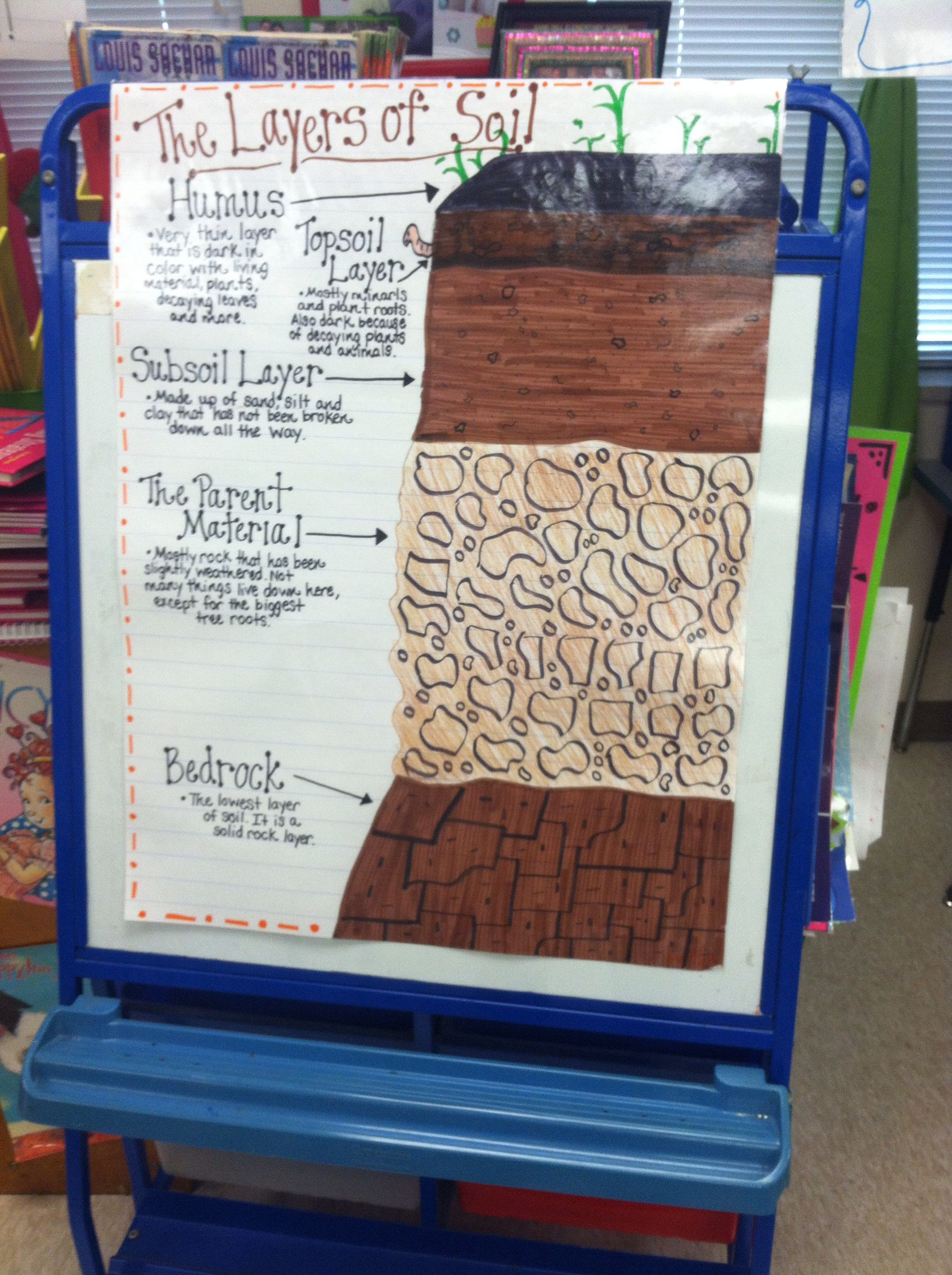 The Layers Of Soil Anchor Chart 3rd Grade Science