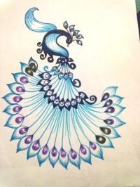 Alfa img - Showing > Peacock Designs For Fabric Painting ...