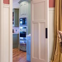 Kitchen Photos Swinging Door - between the dining room and ...