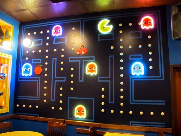 Pac Man Game Room Walls