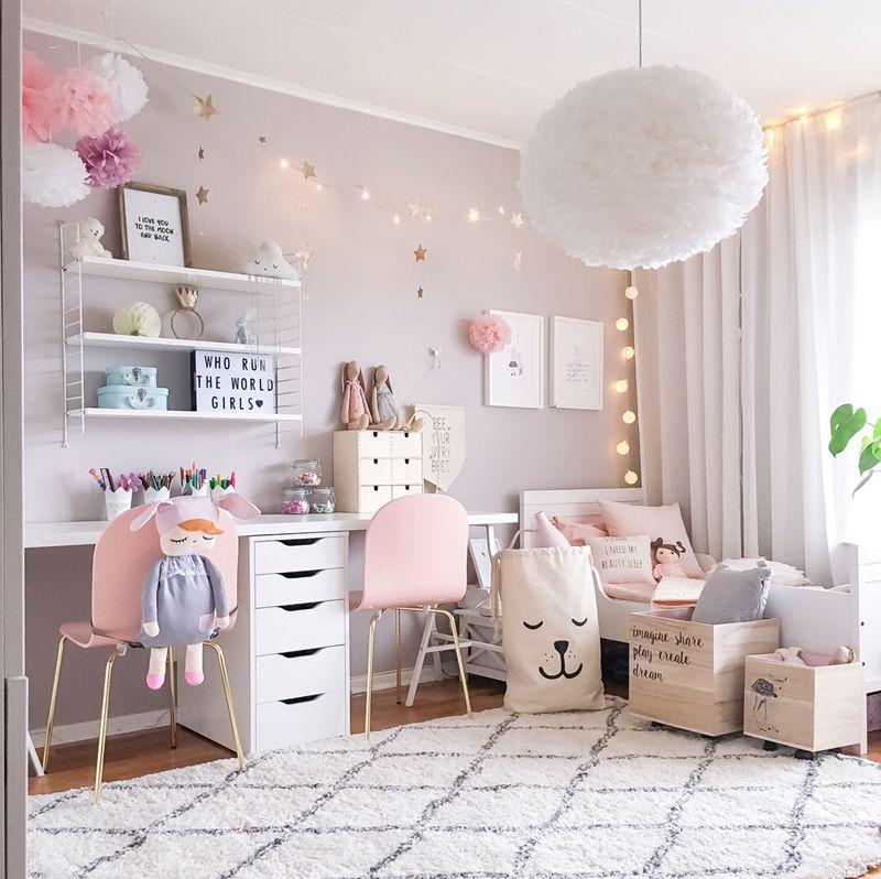 A Scandinavian style Shared Girls' Room