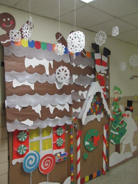 Gingerbread House Winter Wonderland Classroom Door Decorations