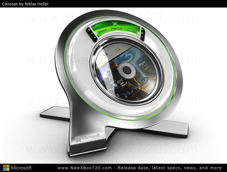 Xbox 720 Console And Kinect Concept Design Niklas Heller