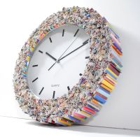 Clock wall art, made from recycled magazines | Decor ...