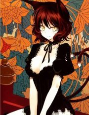 #neko #maid #two tails #short curly
