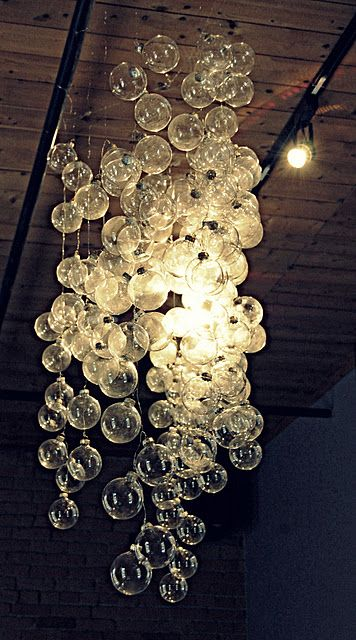 Bubble Chandelier Made From Clear Christmas Ornaments On String Another