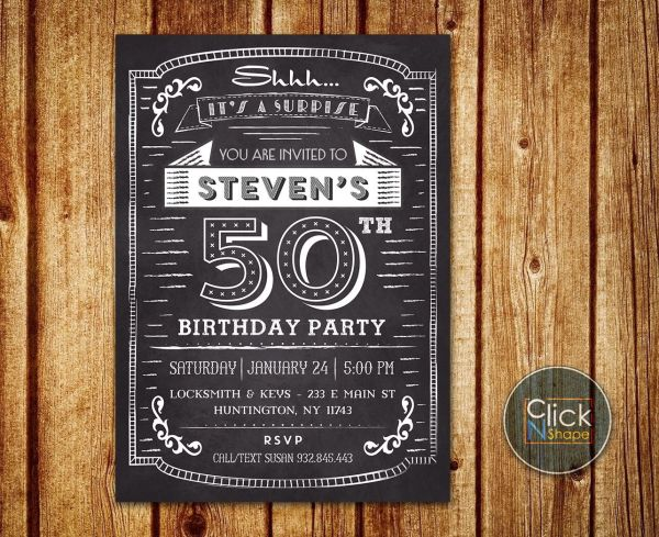 Surprise 60th Birthday Invitations For Men