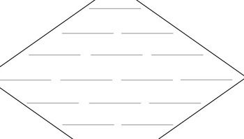 Diamante poem template includes a completely blank diamond
