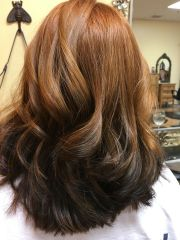 reverse ombre red brown
