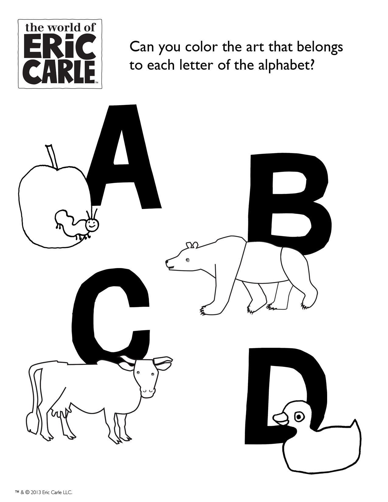 Color the Alphabet! Can you color the art that belongs to