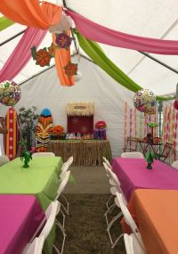 DIY decorations for a Luau theme party. Great way to ...