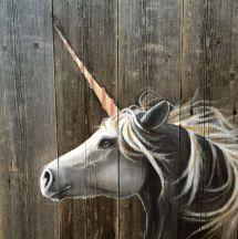Unicorn Barn Wood Pallet Art Rustic Dyi Recycled