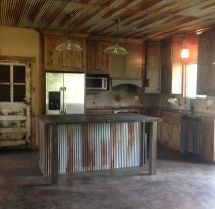 Rustic Kitchen with Tin Ceiling