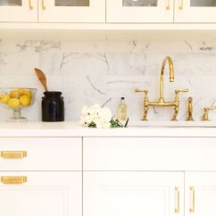 Brass Hardware Kitchen Cabinet Pulls And Handles In A White By Alyssa Kapito