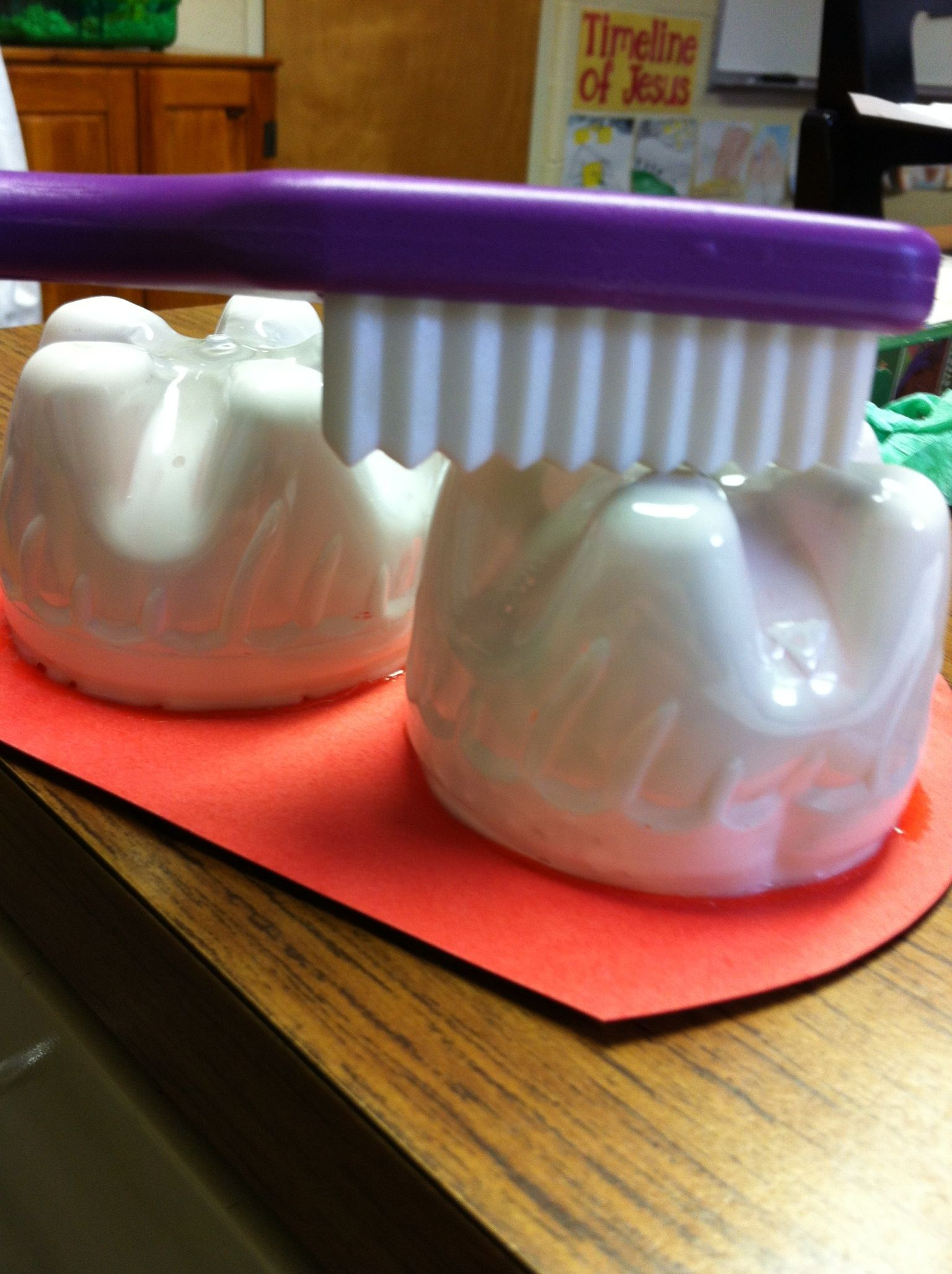 Teeth Made From Bottom Of Plastic Soda Bottles To Teach A