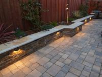 sitting wall, low voltage lights | landscaping | Pinterest ...