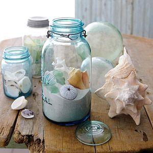 Seashell Decorations Home Decor Ocean Jars Seashells Nautical