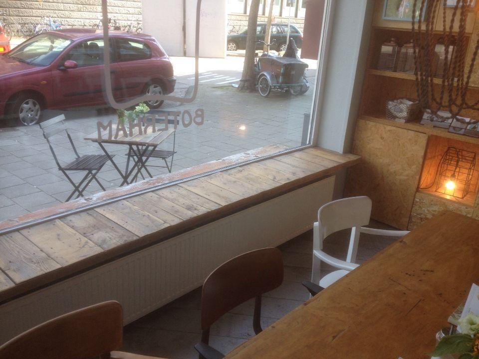 Brede houten vensterbank  Woonkamer  Pinterest