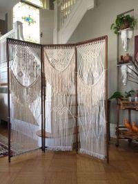 Macrame room divider, macrame screen, bohemian decor, boho ...