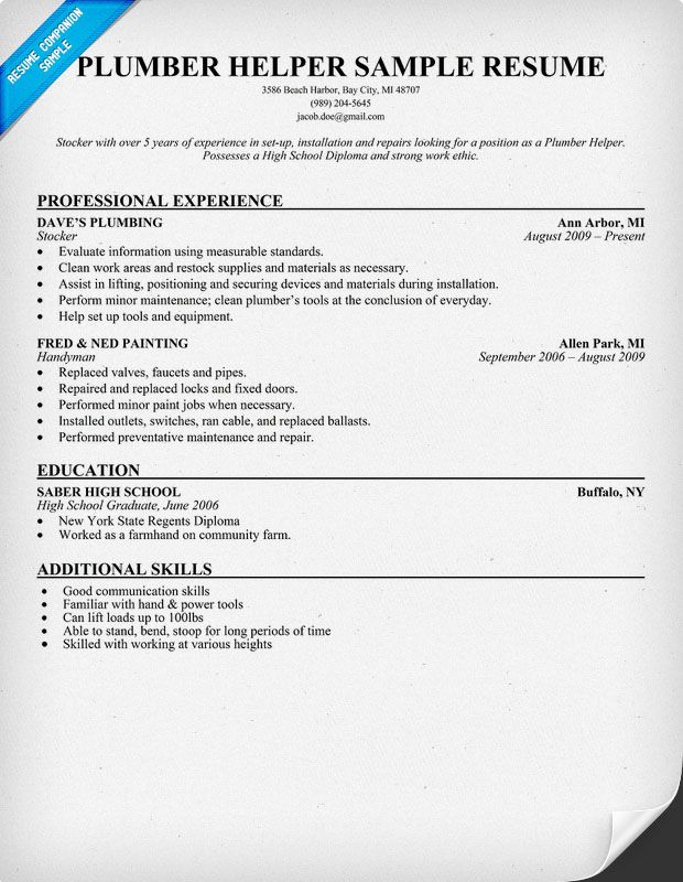 resume plumber pipefitter resume examples free plumbing resume examples plumber word unforgettable pipefitter to