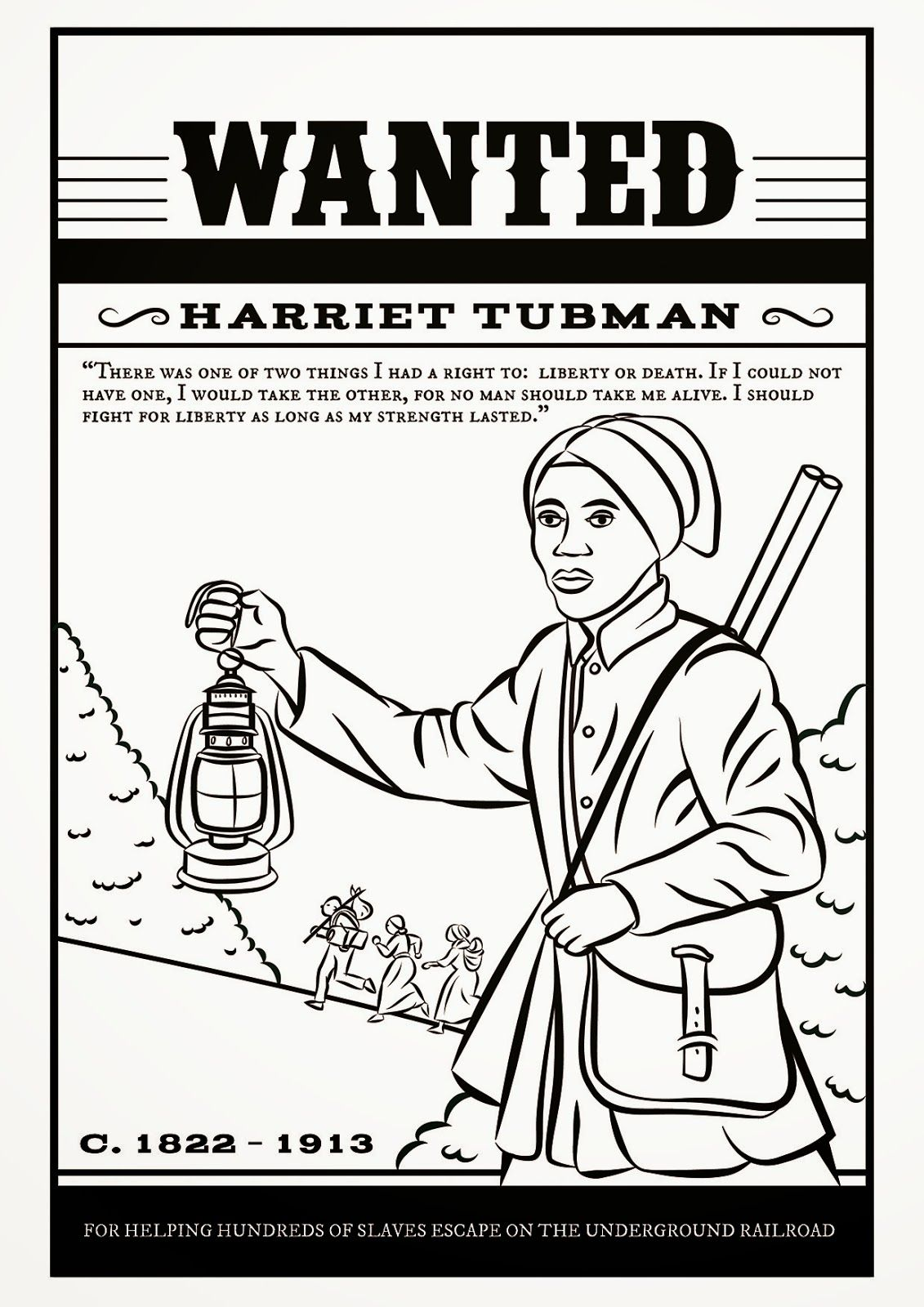 Harriet Tubman Underground Railroad Coloring Coloring Pages