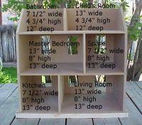 sample dollhouse dimensions | Miniatures | Pinterest ...