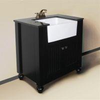 Granite Top 30-inch Farmhouse Apron Style Single-sink ...