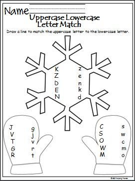 Winter Match The Letters is a free uppercase and lowercase