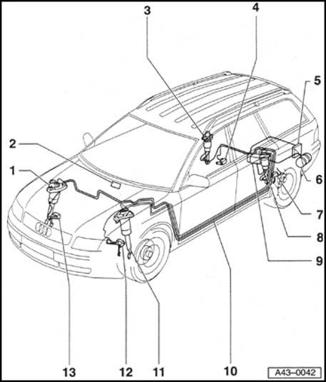 2007 Audi S4 Suspension Diagram. Audi. Auto Parts Catalog