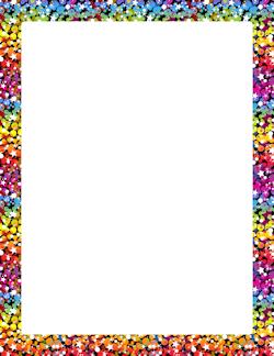 rainbow glitter border frames