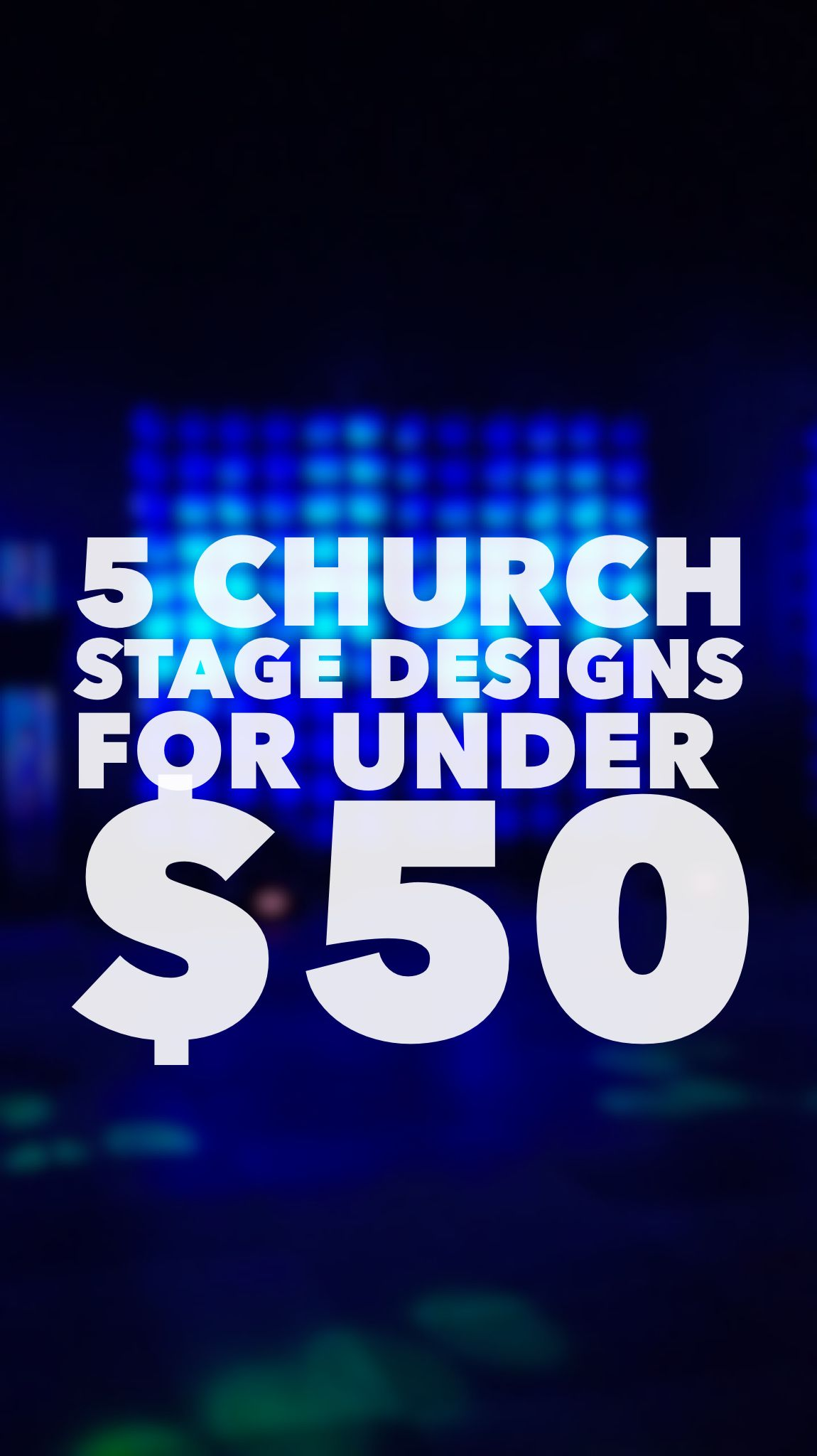 Easy Church Stage Designs For Under 50