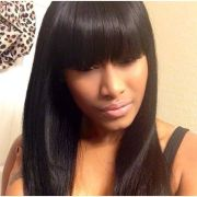 sew in with bangs ideas