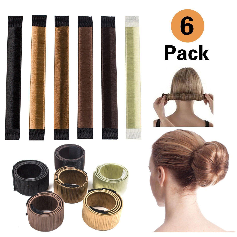 6 PCS Bun Hair Maker Magic Hair Styling Donut Bun Maker Hair Bun