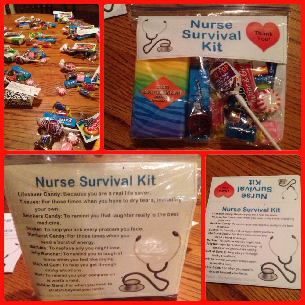 Nurse survival kit courtesy of httpaboutfamilycrafts
