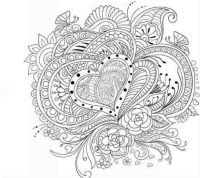 Adults Coloring Book Art Love Heart Stress Relief Designs ...