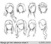 girl anime hairstyles hair reference